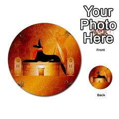 Anubis, Ancient Egyptian God Of The Dead Rituals  Multi Purpose Cards (round)  by FantasyWorld7