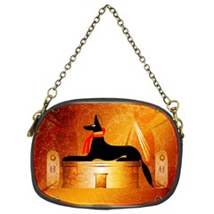 Anubis, Ancient Egyptian God Of The Dead Rituals  Chain Purses (one Side)  by FantasyWorld7