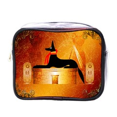 Anubis, Ancient Egyptian God Of The Dead Rituals  Mini Toiletries Bags by FantasyWorld7