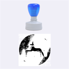 Anubis, Ancient Egyptian God Of The Dead Rituals  Rubber Round Stamps (medium) by FantasyWorld7