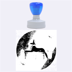 Anubis, Ancient Egyptian God Of The Dead Rituals  Rubber Round Stamps (large) by FantasyWorld7