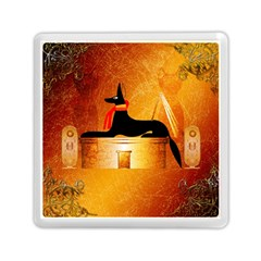 Anubis, Ancient Egyptian God Of The Dead Rituals  Memory Card Reader (square)  by FantasyWorld7