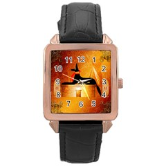 Anubis, Ancient Egyptian God Of The Dead Rituals  Rose Gold Watches by FantasyWorld7