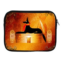 Anubis, Ancient Egyptian God Of The Dead Rituals  Apple Ipad 2/3/4 Zipper Cases by FantasyWorld7