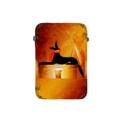 Anubis, Ancient Egyptian God Of The Dead Rituals  Apple Ipad Mini Protective Soft Cases by FantasyWorld7