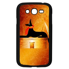 Anubis, Ancient Egyptian God Of The Dead Rituals  Samsung Galaxy Grand Duos I9082 Case (black) by FantasyWorld7