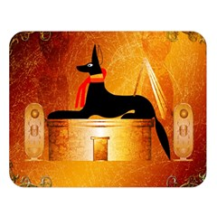 Anubis, Ancient Egyptian God Of The Dead Rituals  Double Sided Flano Blanket (large)  by FantasyWorld7