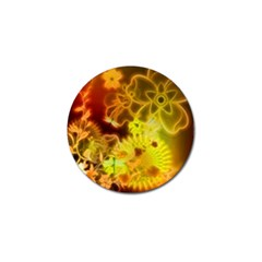 Glowing Colorful Flowers Golf Ball Marker (10 Pack) by FantasyWorld7