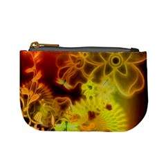 Glowing Colorful Flowers Mini Coin Purses by FantasyWorld7