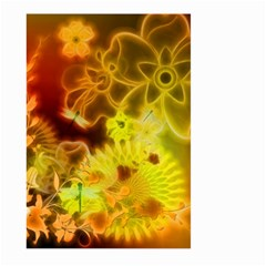 Glowing Colorful Flowers Large Garden Flag (Two Sides) by FantasyWorld7