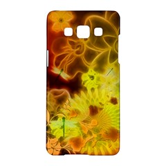Glowing Colorful Flowers Samsung Galaxy A5 Hardshell Case  by FantasyWorld7
