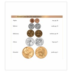 Greek Coin Bag By Russell Khater   Drawstring Pouch (large)   1lnd3k5w5tif   Www Artscow Com Front