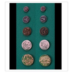 Greek Coin Bag By Russell Khater   Drawstring Pouch (large)   1lnd3k5w5tif   Www Artscow Com Back