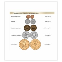 Middle Ages Coin Set By Russell Khater   Drawstring Pouch (large)   V5wlswc46ppv   Www Artscow Com Front