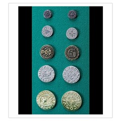 Middle Ages Coin Set By Russell Khater   Drawstring Pouch (large)   V5wlswc46ppv   Www Artscow Com Back