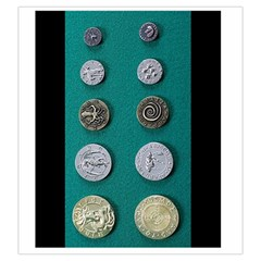 Mythology I Coin Bag By Russell Khater   Drawstring Pouch (large)   0ozaw6syafx4   Www Artscow Com Back