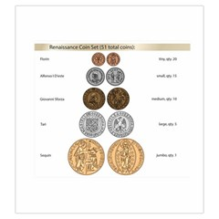 Renaissance Coin Bag By Russell Khater   Drawstring Pouch (large)   Zgv5bhan13uz   Www Artscow Com Front
