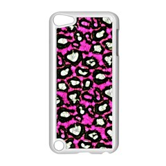 Pink Cheetah Print  Apple Ipod Touch 5 Case (white) by OCDesignss