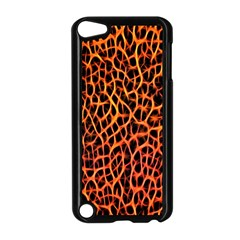 Lava Abstract Pattern  Apple Ipod Touch 5 Case (black) by OCDesignss