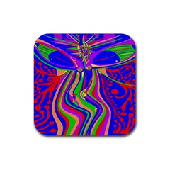 Transcendence Evolution Rubber Square Coaster (4 Pack)  by icarusismartdesigns