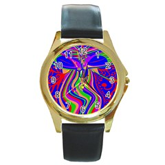 Transcendence Evolution Round Gold Metal Watches by icarusismartdesigns