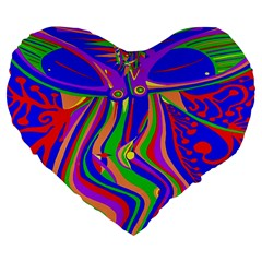 Transcendence Evolution Large 19  Premium Flano Heart Shape Cushions by icarusismartdesigns