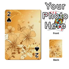 Wonderful Flowers With Butterflies Playing Cards 54 Designs  by FantasyWorld7