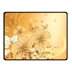 Wonderful Flowers With Butterflies Double Sided Fleece Blanket (small)  by FantasyWorld7