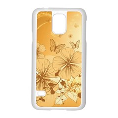 Wonderful Flowers With Butterflies Samsung Galaxy S5 Case (white) by FantasyWorld7