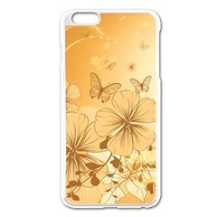 Wonderful Flowers With Butterflies Apple iPhone 6 Plus Enamel White Case by FantasyWorld7