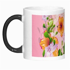 Beautiful Flowers On Soft Pink Background Morph Mugs by FantasyWorld7