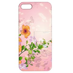 Beautiful Flowers On Soft Pink Background Apple Iphone 5 Hardshell Case With Stand by FantasyWorld7
