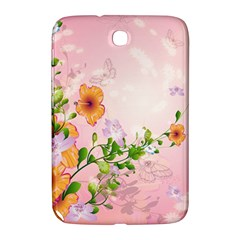 Beautiful Flowers On Soft Pink Background Samsung Galaxy Note 8 0 N5100 Hardshell Case  by FantasyWorld7