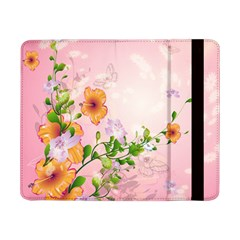 Beautiful Flowers On Soft Pink Background Samsung Galaxy Tab Pro 8.4  Flip Case by FantasyWorld7