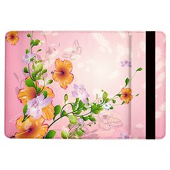 Beautiful Flowers On Soft Pink Background iPad Air Flip by FantasyWorld7