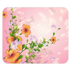 Beautiful Flowers On Soft Pink Background Double Sided Flano Blanket (small)  by FantasyWorld7