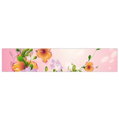 Beautiful Flowers On Soft Pink Background Flano Scarf (small)  by FantasyWorld7