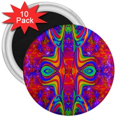 Abstract 1 3  Magnets (10 Pack)  by icarusismartdesigns