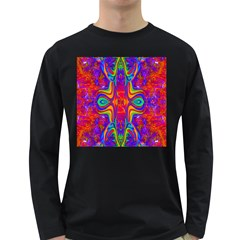 Abstract 1 Long Sleeve Dark T Shirts by icarusismartdesigns