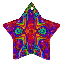 Abstract 1 Star Ornament (two Sides)  by icarusismartdesigns