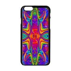 Abstract 1 Apple Iphone 6 Black Enamel Case by icarusismartdesigns