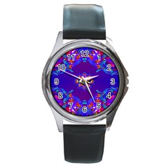Abstract 2 Round Metal Watches by icarusismartdesigns
