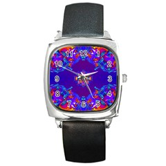 Abstract 2 Square Metal Watches by icarusismartdesigns