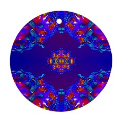 Abstract 2 Round Ornament (two Sides)  by icarusismartdesigns