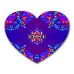 Abstract 2 Heart Mousepads by icarusismartdesigns