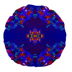 Abstract 2 Large 18  Premium Round Cushions
