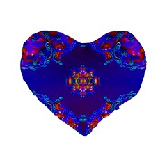 Abstract 2 Standard 16  Premium Flano Heart Shape Cushions by icarusismartdesigns