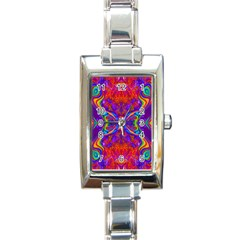 Butterfly Abstract Rectangle Italian Charm Watch by icarusismartdesigns
