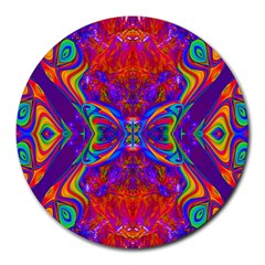 Butterfly Abstract Round Mousepad by icarusismartdesigns