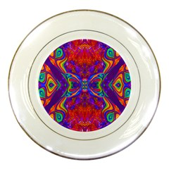Butterfly Abstract Porcelain Plate by icarusismartdesigns